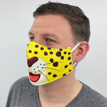 Load image into Gallery viewer, Leopard Cartoon Fitted Face Mask