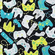 Video Game Controller Print Washable Fabric Face Mask with Filter Layer