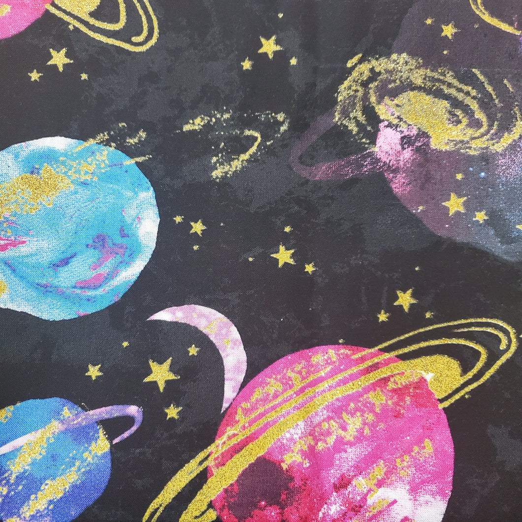 Outer Space Print Washable Fabric Face Mask with Filter Layer