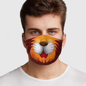 Lion Fitted Face Mask