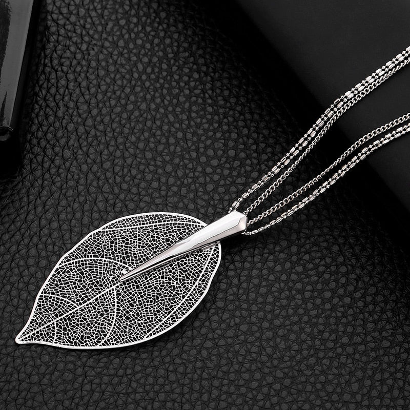 Exuberant Leaf Necklace