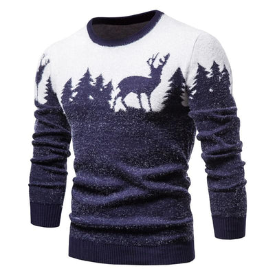 Festive Reindeer Forest Sweater