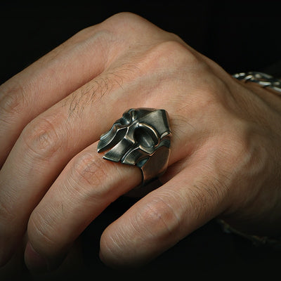 Steel Titan Helmet Ring