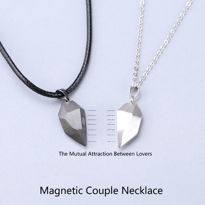 Magnetic Love Heart Necklace Set