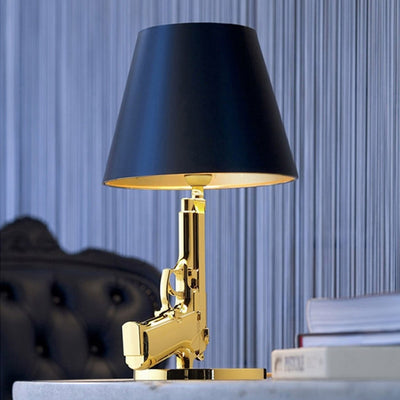 Chrome Pistol Table Lamp