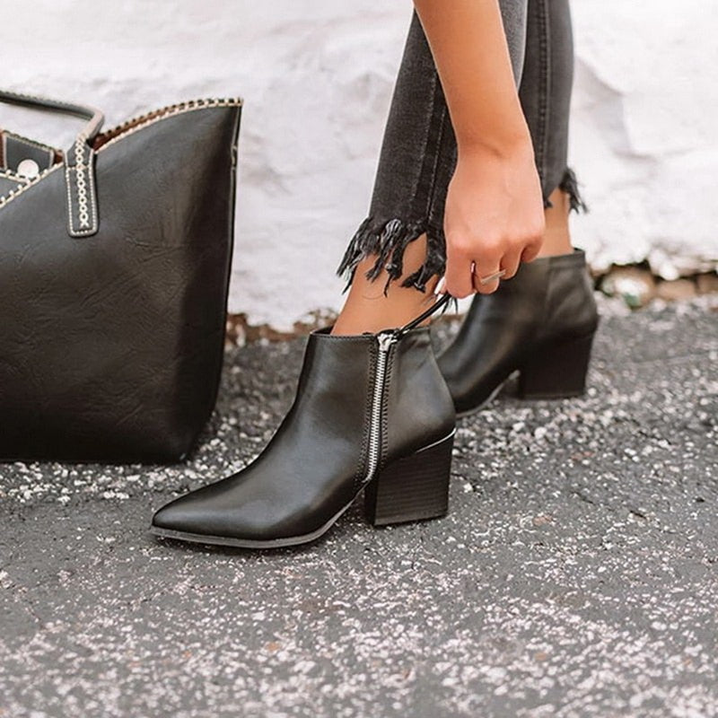 Ivanna Leather Ankle Boots