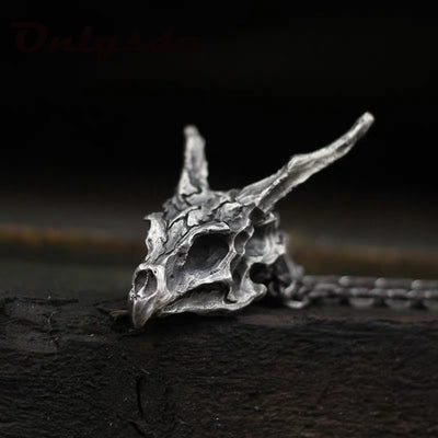Ancient Steel Dragon Necklace