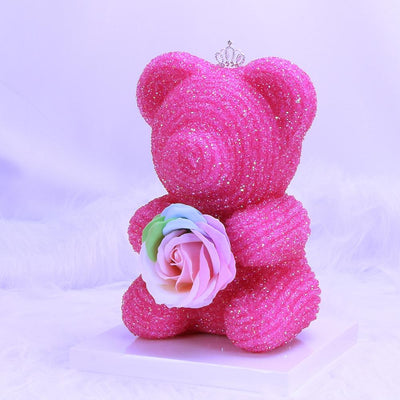 Royal Crystal Rose Bear