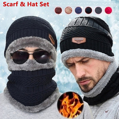 Coral Fleece Hat & Scarf Set