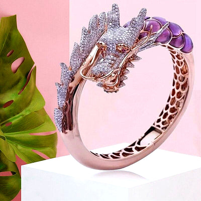 Crystal Ice Dragon Ring