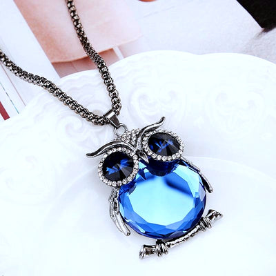 Alora Crystal Owl Necklace