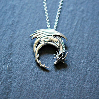 Helios Dragon Necklace