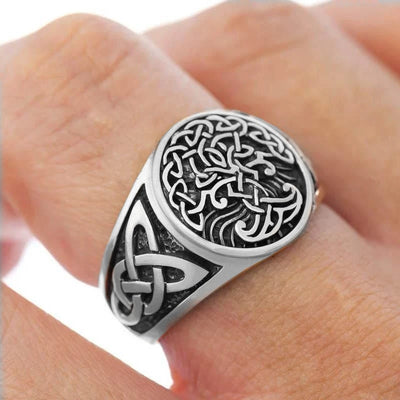 Steel Tree Of Life Ring