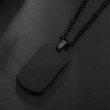 Luxe Carbon Tag Necklace