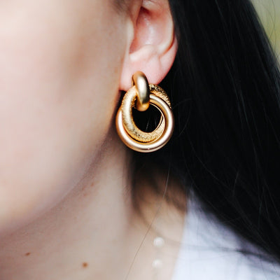 Amelia Twisted Hoop Earrings