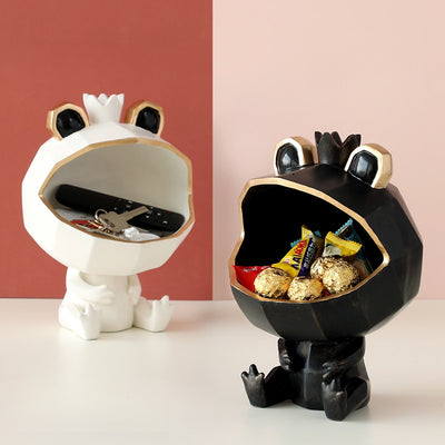 Frog Storage Figurine