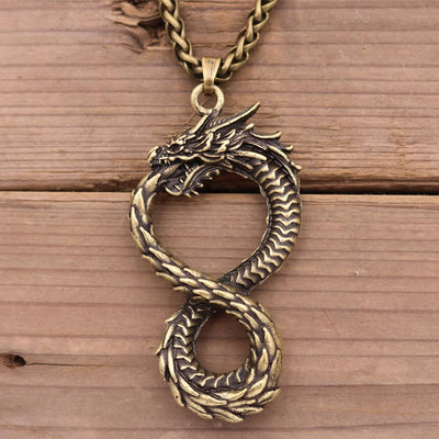 Infinity Dragon Necklace
