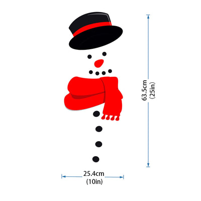 Snowman Magnetic Fridge Sticker
