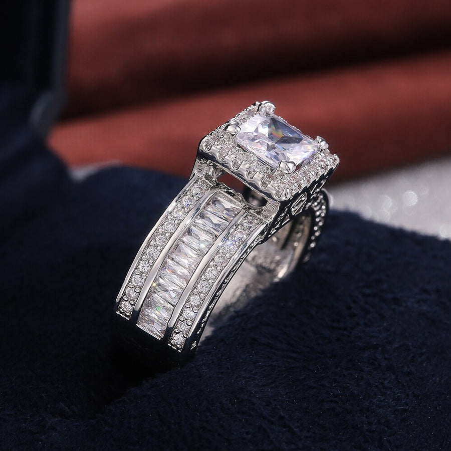 Maxima Square Crystal Ring
