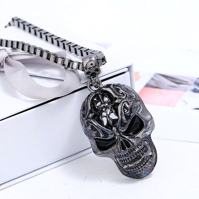 Infernal Steel Skull Necklace