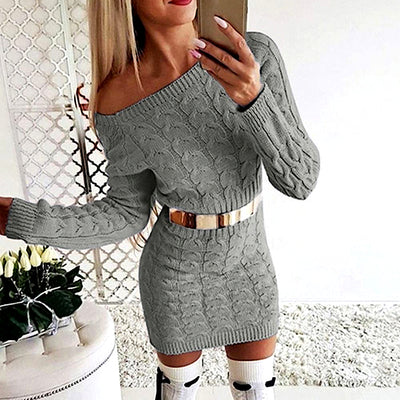Kaitlyn Knit Sweater Dress