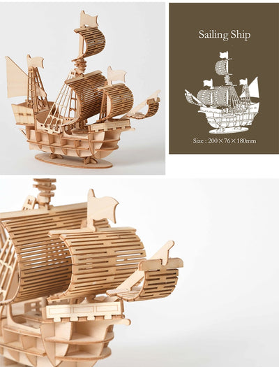 Ultimate Sailing Ship Assembly Toy