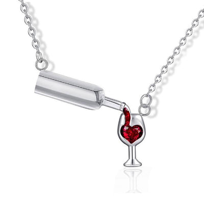 Wine Love Crystal Necklace