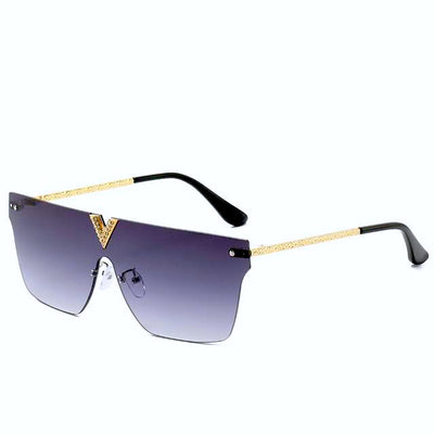 Lucia Rimless Crystal Sunglasses