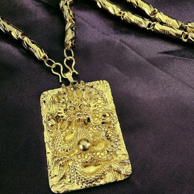 Ancient Gold Dragon Necklace