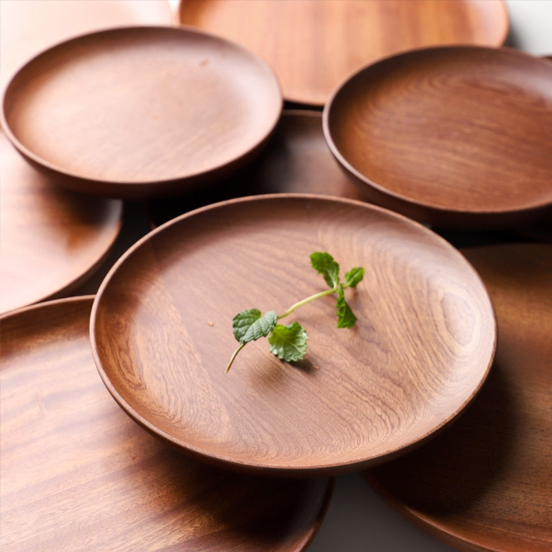 Japanese Wood Plates (2 Pack)