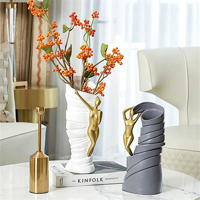 Nordic Ribbon Dancer Vase