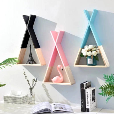 Nordic Wooden Tepee Shelf