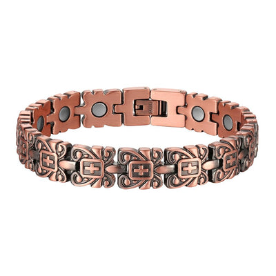 Faith Copper Cross Bracelet