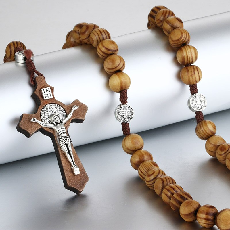 Ancient Crucifix Wood Necklace