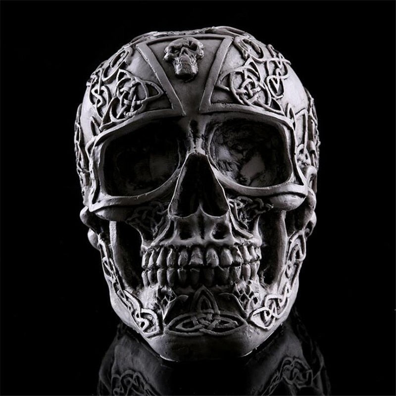 Tribal Skull Figurine