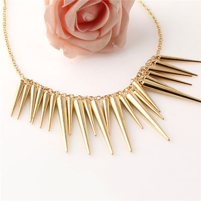 Vintage Punk Spike Necklace