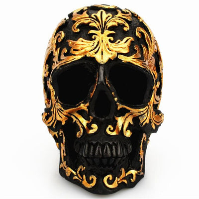 Gold Death Skull Ornament