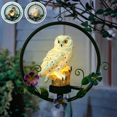 Hanging Solar Owl Light