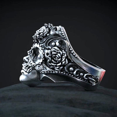 Steel Flower Goddess Ring