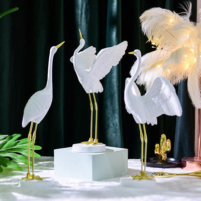 Great White Egret Figurine