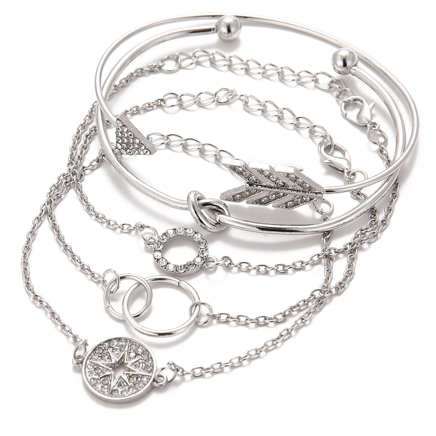 Angela Crystal Bracelet Set