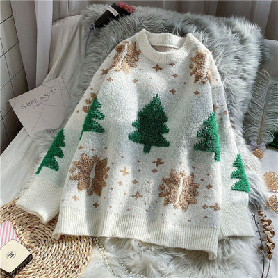 Christmas Tree Snowflake Sweater