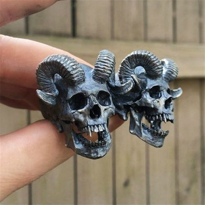 Infernal Steel Skull Ring