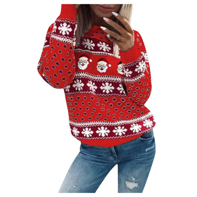 Christmas Santa Snowflake Sweater