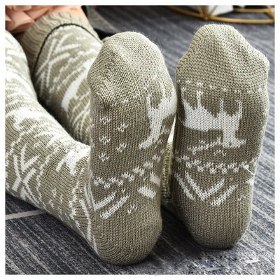 Christmas Pompom Long Socks