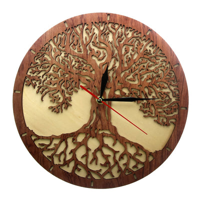 Wooden Tree Of Life Clock
