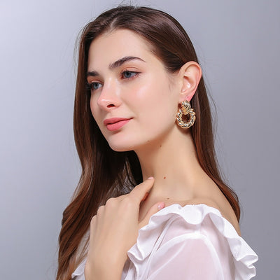 Lucy Twister Drop Earrings