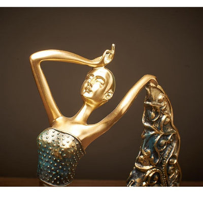 Peacock Dancer Figurines