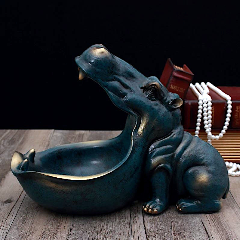 Hippo Storage Figurine