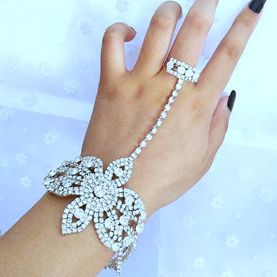 Kyley Crystal Ring Bracelet